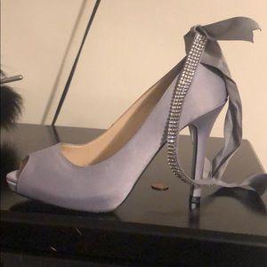 Silver satan shoe